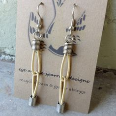 Guitar String Jointed Earrings now featured on Fab.