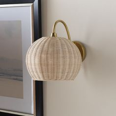 Surya Mina Rattan One Light Wall Sconce Min 001 | Bellacor