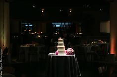 Wedding cake idea: put a spotlight on your cake.    Venue: Nacional 27 | Photographer: Peter Wynn Thompson