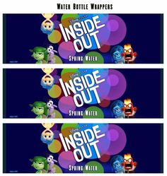 free inside out printable Water Bottle Wrapper