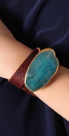 bLeather Wrist Belt Bracelet