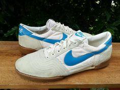 Vtg OG 1982 Nike Athletic Shoes suede toe white blue rare #Nike #AthleticSneakers