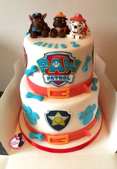 Paw Patrol Cake Image Plaque Cake Toppers by OurLittleCakery