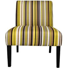 Angelo:HOME Bradstreet Chair In Sunflower Yellow Stripe 2 Pk
