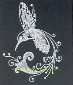 Colibri en pergamano copyright