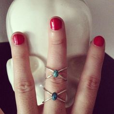 RING X in sterling silver with turquoise natural bead de Crystallites en Etsy Heart Ring, Etsy, Sterling Silver, Beads, Natural, Rings, Jewelry, Turquoise, Handmade Gifts