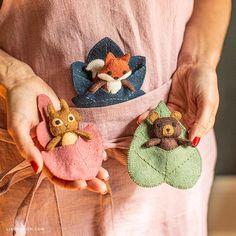 Felt Animal Patterns, Felt Crafts Patterns, Felt Crafts Diy, Felt Diy, Stuffed Animal Patterns, Fabric Crafts, Sewing Crafts, Sewing Projects, Sewing Patterns
