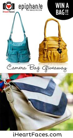 Epiphanie Camera Bag Giveaway on iHeartFaces.com! I want the Brooklyn Backpack or the Austing-Grey!!!