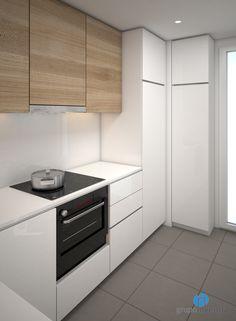 La #reforma de cocina estará equipada con una placa vitrocerámica. #kitchen #Barcelona #3D