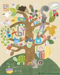 Baby Art by Jill McDonald Design