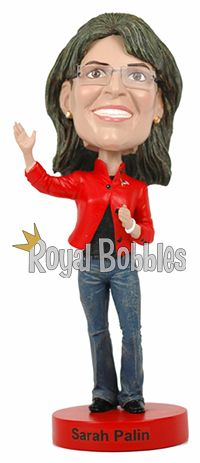 This exclusive limited-edition Sarah Palin #bobblehead commemorates Governor Palin's finest moment – her celebrated appearance during the 2008 Republican National Convention. #RoyalBobbles