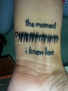 Wrist Tattoo Of The Sound Waves From The 1st Time I Heard My Daughters Heartbeat