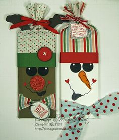 Frosty and Rudy Candy bar wrappers