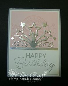 Create birthday cards with an explosion from the Birthday Blast Bundle which includes the Star Blast Edgelits Dies and the Birthday Blast stamp set. Create Birthday Card, Handmade Birthday Cards, Happy Birthday Cards, Birthday Blast, Diy Birthday, Star Cards, Wedding Anniversary Cards, Stamping Up Cards, Fathers Day Cards