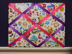 11 x 14 Shopkins Party Memory Board by SewIntoAuntieMCrafts on Etsy