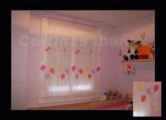 """Foto: Estor """"Paqueto"""" de visillo bordado infaltil.  En Cortinas Ibáñez con más de 30 años de experiencia, disponemos de miles de tejidos que se pueden adaptar a sus necesidades, somos especialistas en Cortinajes, Goteras, Hondas, Bandos, Galerías, Estores, Japoneses, Etc. y podemos adaptarla a cualquier situación.  https://www.facebook.com/pages/Cortinajes-Ibañez/285146811496396"""
