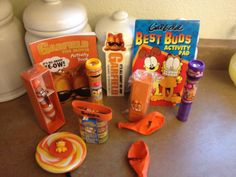 A few of the Garfield treats I was able to find or make for the children's loot bags.