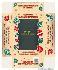 another Christmas ornament box to print out in slightly smaller size (1:12) | Source: