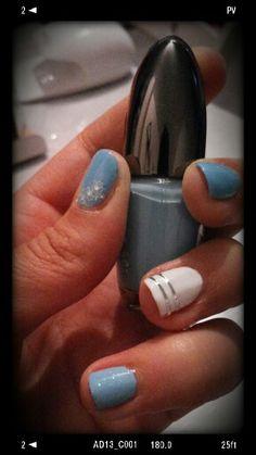 #nail-art #turchese #bianco #summer #decorazione
