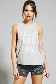 Active Glitter Graphic Tank