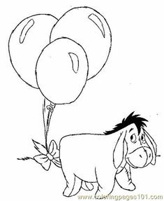 Eeyore Winnie The Pooh Coloring Pages Cartoon Coloring Pages, Disney Coloring Pages, Coloring For Kids, Printable Coloring, Coloring Pages For Kids, Coloring Sheets, Coloring Books, Coloring Worksheets, Winnie The Pooh Birthday