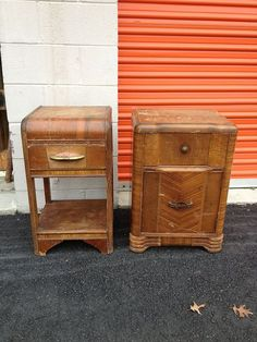Art Deco Nightstands Makeover - This pair of Art Deco nightstands were in need of some serious help. 80 years of use had taken quite a toll on them, so after a…