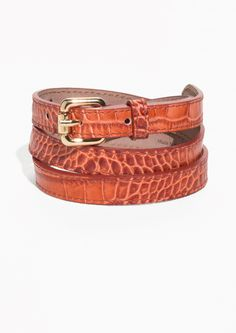 & Other Stories | Croco Leather Belt