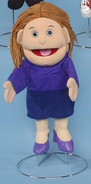 Mom in Purple Dress is great for kids of all ages that are wanting to use their imagination. and This fun travel companion travels well as long as you keep toys fed or This toy is ideal for ages Toys Mom in Purple Dress Glove Puppetlt/ligt Silly Puppets, People Puppets, Glove Puppets, Puppet Toys, Sock Puppets, Ventriloquist Doll, Purple Blouse, Purple Dress, Purple High Heels