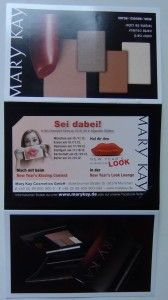 Get a free Samplin-Card from Mary Kay. With nice Make-Up.