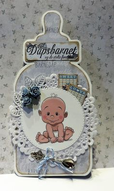 Karon Beach, Baptism Cards, Southern Girls, Fun Challenges, Baby Bottles, I Card, Paper Crafts, Crafty, Christmas Ornaments