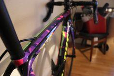 My custom painted S-Works New Tarmac. Designed by Ron Jones.  Custom bike Custom bicycledesign Custom bike finish