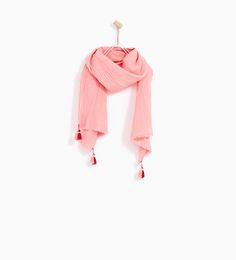 CREPE NECKERCHIEF WITH TASSELS-NEW IN-GIRL | 4-14 years-KIDS | ZARA United States