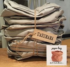 UASHMAMA paper bags Made in Italy Paper Bags, Bag Making, Italy, Marketing, Kitchen, How To Make, Italia, Cooking, Kitchens