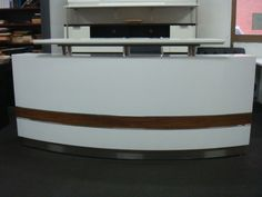 Reception Counter Reception Desk Counter Office Reception Desks Furniture | eBay - too bad its too far away in Australia