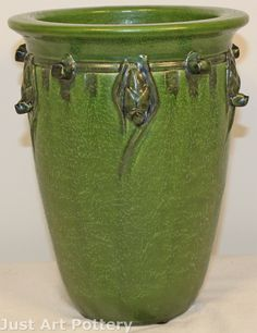 Ephraim Faience Pottery Under the Eaves Vase A27 Retired from Just Art Pottery