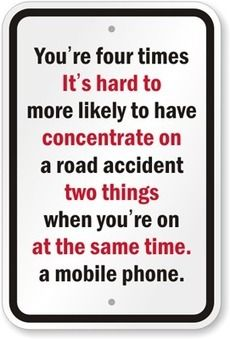 Poster showing how you can't concentrate on on 2 things at same time! Distracted Driving, Injury Attorney, Personal Injury, California, Signs, Reading, Words, News, Live