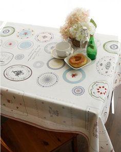 Antique plates illust cut linen