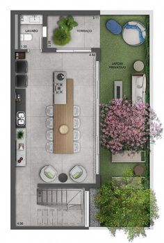 Com - Houses plans - Fachadas House Layout Plans, Floor Plan Layout, Small House Plans, House Layouts, House Floor Plans, Apartment Layout, Apartment Design, Silo House, Small Space Interior Design