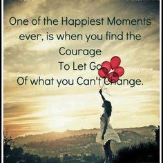 So true! Just let it go like a balloon in the sky!