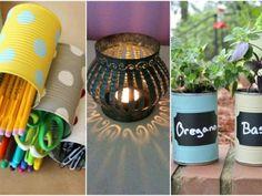20+ inspirací na zpracování starých plechovek! Budete koukat, co z obyčejné plechovky můžete snadno vyrobit! Garden Projects, Planter Pots, Candle Holders, Candles, Lighting, Home Decor, Decoration Home, Room Decor, Porta Velas