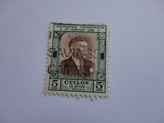 Independence Commemoration 1948 5 cents Ceylon Postage Stamp