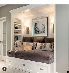 Stunning Cool Ideas: Transitional Design Butler Pantry transitional space open c… - All For Decoration Bedroom Nook, Girls Bedroom, Bedroom Decor, Master Bedroom, Bedrooms, Closet Bed Nook, Day Bed Decor, Master Closet, Master Bath