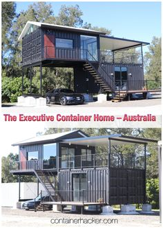 The Executive Container Home - Australia - Living in a Container Building A Container Home, Container Cabin, Container Buildings, Container Architecture, Architecture Design, Container Homes Australia, Shipping Container Home Designs, Shipping Containers, Tiny House Plans