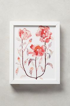 Blooming Triad Wall Art #anthropologie