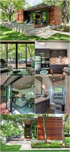 "Tranquil and Tiny 480sf Lakehouse Sits on 5 Acres as a Family Retreat The ""Cousin Cabana"" is a low-maintenance tiny house sitting on five gorgeous acres alongside Lake Austin. The family retreat was built as a retreat for the family and their friends using natural materials and measuring 480 square feet. With plenty of room to spread out beyond the walls, it's surprisingly hard to imagine leaving the comforts of this gorgeous home designed by Austin architect, Jared Haas of Un.Box Studio."