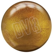 DV8 Polyester (Glitter Gold) Bowling Ball. The new DV8 polyester balls offer four distinct color options to entry level bowlers - Slime Green, Fearless Fuchsia, Glitter Gold, and Just Black. In addition to these balls providing excellent shelf appeal, each DV8 polyester ball comes with a shoulder sack that holds the ball, a pair of shoes, and a few accessory items. This special package makes the new DV8 polyester ball an outstanding value for the first-time ball buyer.