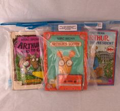 Arthur Lot of 3 Audio Book & Cassette Tape Sets Marc Brown President Camp Tooth