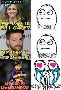 Moim ojcem jest Bill Gates - Co z tego? • Moim ojcem jest Schwarzenegger - Co z tego? • Moim ojcem jest Lionel Messi • Zobacz >> #messi #lionelmessi #football #soccer #sports #pilkanozna