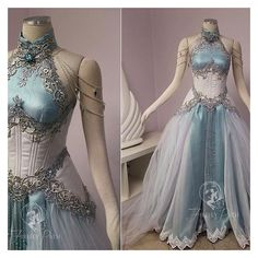 See this and similar clothing - Our customer sent us an image of Tyrande Whisperwind from World of Warcraft to use as inspiration in her gown design. I wanted t...