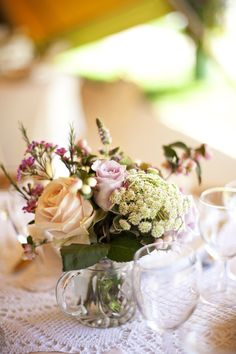 Simple but elegant #weddings #centerpieces
